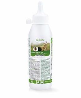 AniForte Milben und Floh Frei Pulver für Meerschweinchen, Kaninchen, Nager & Kleintiere 250 ml - Diatomeenerde & Kieselgur zur Abwehr von Milben, Flöhen, Insekten, Parasiten und Ungeziefer - 1