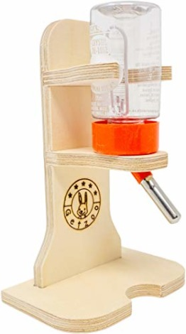 Getzoo Tränke aus Holz + Classic® Trinkflasche 75 ml - 1