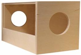Hamsterwelten Sandbadehaus Wellness - Sandbad aus Birkenholz mit Panoramascheibe für Hamster und Mäuse - 1