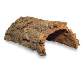 Korktunnel | Korkhöhle (Halbbogen) unten offen, 30 cm, Innenhöhe ≤ 11 cm | gereinigt & desinfiziert | Naturkorkrinde als Unterschlupf für Nagetiere, Reptilien, Vögel 100% Korkrinde, natürlicher, nachwachsender Rohstoff - 1