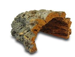Korktunnel | Korkhöhle (Halbbogen) unten offen, 30 cm, Innenhöhe ≥ 12 cm | gereinigt & desinfiziert | Naturkorkrinde als Unterschlupf für Nagetiere, Reptilien, Vögel 100% Korkrinde, natürlicher, nachwachsender Rohstoff - 1