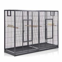 Montana Cages ® | Vogelkäfig Melbourne 160 - Antik Doppelkäfig, Käfig XL, Voliere für Sittiche & Finken - 1