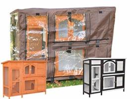 nanook Schutzhülle Wetterschutz Cover für Kaninchenstall Hasenstall Jumbo, 148 x 51 x 105 cm - Farbe: braun, schwarz - 1