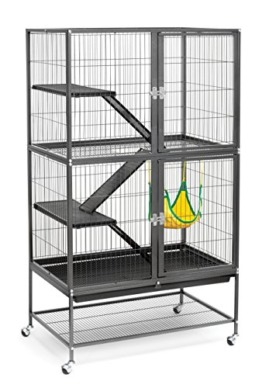 Prevue Hendryx 485Pet Products Aufnahmen Frettchen Home mit Ständer, schwarz Hammertone - 1