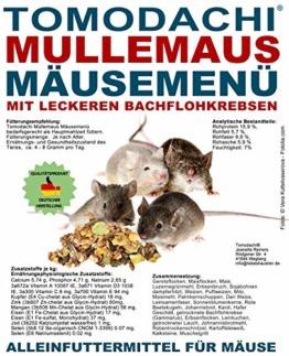 Tomodachi Mäusefutter mit tierischen Proteinen, Mäusenahrung, Naturfutter, artgerechte Hauptmahlzeit für die Maus mit leckeren Bachflohkrebsen, Komplettnahrung für Mäuse Mäusefutter 10kg Sack - 1