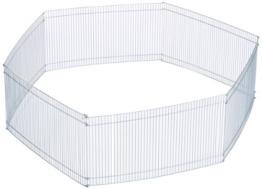 Trixie 6249 Freilaufgehege für Kleintiere, verzinkt, ø 90 × 25 cm - 1