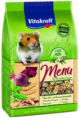 Vitakraft Alleinfutter für Hamster, Ausgewogene Futtermischung, Premium Menü Vital, 6er Pack (6x400g) - 1