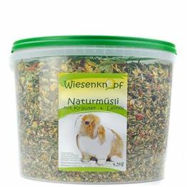 Wiesenknopf Kaninchenfutter 4,5kg Strukturfutter mit Kräuter - 1